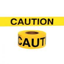 "Presco B3104Y16 3""X1000' Yellow W/Blackcaution 4 Mill Pe (8 ROL)"