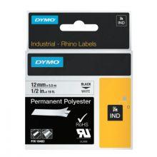 """Dymo/Rhino 18483 Rhino 1/2"""" White Permanent Poly Labels (1 EA)"""