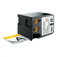"""Dymo/Rhino 1868714 2""""X4"""" Pre-Sized Label  Black/White W/Yellow Hdr (3 EA)"""