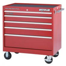 Waterloo PCA-40524RD 40 X 24 Red Hd 5 Drawerroller Cabinet