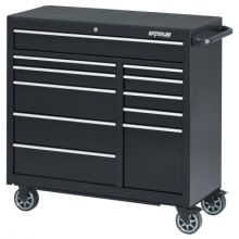 "Waterloo PCA-4111BK 41"" 11-Drawer Cabinet -Black"