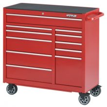 "Waterloo PCA-4111RD 41"" 11-Drawer Cabinet -Red"