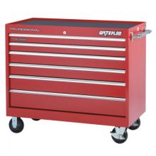Waterloo PCA-46624RD 46 X 24 Red Hd 6 Drawerroller Cabinet