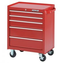 "Waterloo WCA-265RD 26"" 5-Drawer Cabinet - Red"