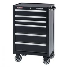 "Waterloo WCA-266BK 26"" 6-Drawer Cabinet - Black"