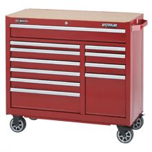 "Waterloo WCA-4111RD 41"" 11-Drawer Cabinet -Red"