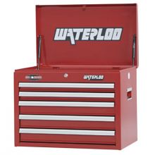 "Waterloo WCH-265RD 26"" 5-Drawer Chest - Red"