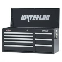 "Waterloo WCH-418BK 41"" 8-Drawer Chest - Black"