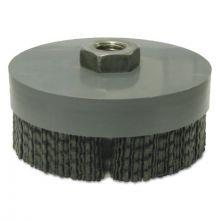 "Weiler 86160 Black Nylox Disc Brush 4"" 80 Cg 5/8-11"