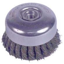 """Weiler 94012 4"""" Double Knot Cup Brush.023 5/8""""-11 A.H."""