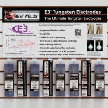 Best Welds E3-DW3 Wall Display For E3 Tungsten  W/Electrodes