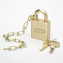 AbilityOne 5340015881646 SKILCRAFT Padlock - Master Keyed - Brass