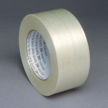 """AbilityOne 7510005824771 SKILCRAFT Filament/Strapping Tape - 1/2"""" x 60 yds, White - 0.50"""" Width x 60 yd Length - 3"""" Core - Glass Filament - White"""