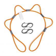 """AbilityOne 4020016258398 Skilcraft LoopRope 3 FT Tie Down Strap, Orange - 36"""" Length - Orange"""