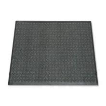 "AbilityOne 7220015826224 SKILCRAFT 7220-01-582-6224 Scraper/Wiper Entry Mat - Floor - 60"" Length x 36"" Width x 0.37"" Thickness - Vinyl - Gray"