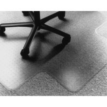 """AbilityOne 7220015772528 SKILCRAFT Low/Med-pile PVC Floor Mat - Floor, Carpeted Floor - 60"""" Length x 46"""" Width x 0.13"""" Thickness - Lip Size 12"""" Length x 25"""" Width - Vinyl - Clear"""