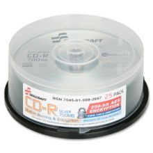 AbilityOne 7045015992657 SKILCRAFT CD Recordable Media - CD-R - 52x - 700 MB - 25 Pack Spindle - 120mm - 1.33 Hour Maximum Recording Time
