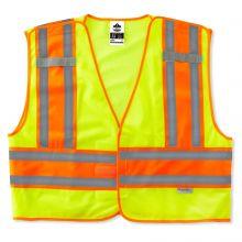 Glowear 8245Psv Type P Class 2 Public Safety Vest 6XL/7XL Lime (1 Each)
