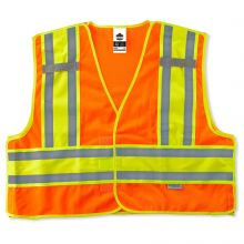 Glowear 8245Psv Type P Class 2 Public Safety Vest 6XL/7XL Orange (1 Each)