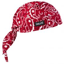 Chill-Its 6615 High-Performance Dew Rag Red Western (1 Each)