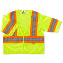 Glowear 8330Z Type R Class 3 Two-Tone Vest L/XL Lime (1 Each)