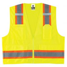 Glowear 8248Z Type R Class 2 Two-Tone Surveyors Vest S/M Lime (1 Each)
