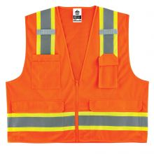 Glowear 8248Z Type R Class 2 Two-Tone Surveyors Vest L/XL Orange (1 Each)