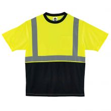 Glowear 8289Bk Type R Class 2 Black Front T-Shirt 2XL Lime (1 Each)