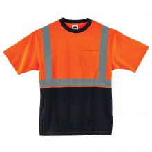Glowear 8289Bk Type R Class 2 Black Front T-Shirt L Orange (1 Each)