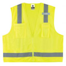 Glowear 8249Z Type R Class 2 Economy Surveyors Vest S/M Lime (1 Each)