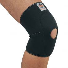 Proflex 615 Knee Sleeve W/ Open Patella/Anterior Pad L Black (1 Each)