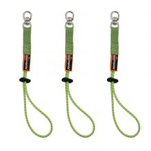 Squids 3713 Elastic Loop Tool Tails Swivel - 10Lbs 3-Pack Standard Lime (1 Each)