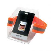 Squids 3386 Arm Band Id/Badge Holder Hv Hi-Vis Orange (1 Each)