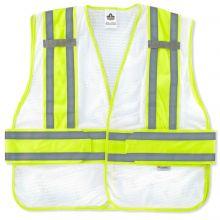 Glowear 8240Hl-Nc Non-Certified Two-Tone Expandable Vest M/L White (1 Each)