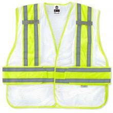 Glowear 8240Hl-Nc Non-Certified Two-Tone Expandable Vest XL/2XL White (1 Each)