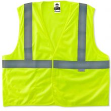 Glowear 8255Hl Type R Class 2 Treated Poly Vest 4XL/5XL Lime (1 Each)