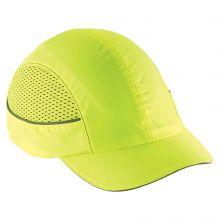 Skullerz 8960 Bump Cap W/ Led Lighting Technology Short Brim Lime (1 Each)