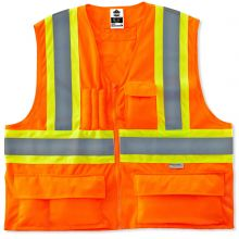 Glowear 8235Zx Type R Class 2 Two-Tone X-Back Vest 4XL/5XL Orange (1 Each)