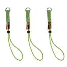 Squids 3703-Bulk Elastic Loop Tool Tails Ext - 15Lbs 60-Pack Standard Lime (1 Case)