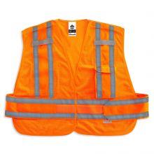 Glowear 8244Psv Type P Class 2 Expandable Public Safety Vest XL/2XL Orange (1 Each)