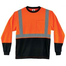 Glowear 8291Bk Type R Class 2 Black Frontlong Sleeve T-Shirt 2XL Orange (1 Each)