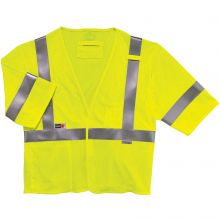 Glowear 8356Frhl Type R Class 3 Fr Modacrylic Vest 4XL/5XL Lime (1 Each)