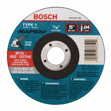BOSCH TCW1S500 5 x .040 x 7/8 Type 1 Thin Cutting Disc AS60INOX-BF for Stainless/Metal  (Bulk)