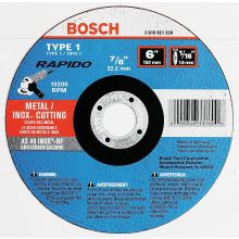 BOSCH TCW1S600 6 x 1/16 x 7/8 Type 1 Thin Cutting Disc AS46INOX-BF for Stainless/Metal  (Bulk)