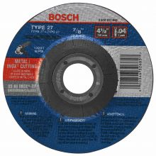 BOSCH TCW27S450 4-1/2 x .040 x 7/8 Type 27 Thin Cutting Disc AS60INOX-BF-Stainless/Metal  (Bulk)