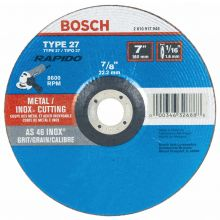 BOSCH TCW27S700 7 x 1/16 x 7/8 Type 27 Thin Cutting Disc AS46INOX-BF for Stainless/Metal  (Bulk)