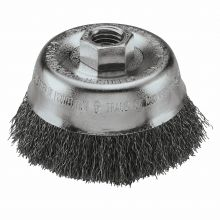 "BOSCH WB524 3"" Cup Brush, Crimped, Carbon Steel,  5/8"" x 11"" Arbor"