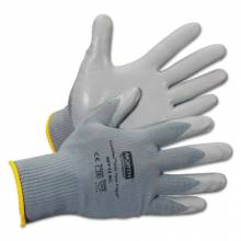North Safety NFF13/9L Nitritask Foam Glove Grey Nylon Seamless Liner (12 PR)