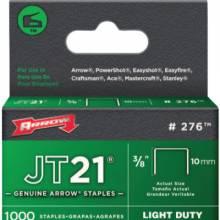 "Arrow Fastener 276 02738 Jt21/T27 3/8"" Staple 1-000/Pk (1 PK)"