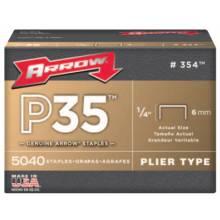 """Arrow Fastener 354 1/4"""" Staples 5000 Stapleper Box"""